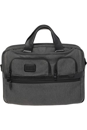 Tumi Dark Grey/Black Fabric and Leather Alpha 2 T Pass Laptop Briefcase