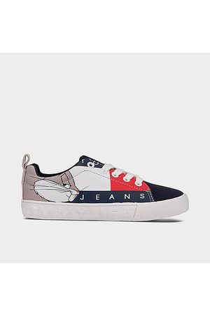 Tommy Hilfiger Big Kids' X Space Jam Bugs Bunny™Casual Shoes in Grey/Navy Size 4.0 Cotton/Polyester