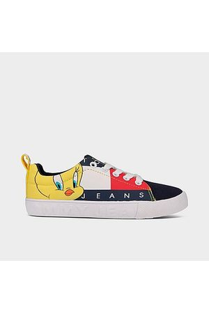 Tommy Hilfiger Big Kids' X Space Jam Tweety Bird™ Casual Shoes in / Size 4.0 Cotton/Polyester