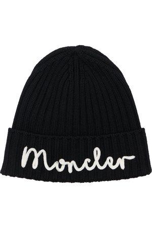 Moncler Logo Virgin Wool Beanie