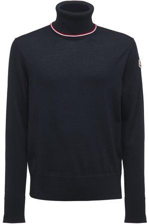 Moncler Turtleneck Wool Knit Sweater