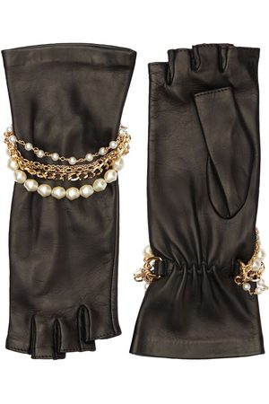 Dolce & Gabbana Nappa Leather Gloves W/bracelet Details