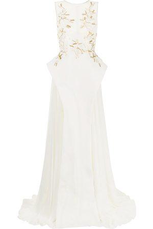 Saiid Kobeisy Bead-embellished sleeveless long gown