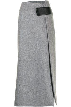 Proenza Schouler Melange wool midi wrap skirt - Grey