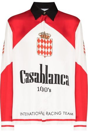 Casablanca Men Shirts - Grand Prix silk shirt