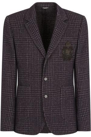 Dolce & Gabbana Men Blazers - Wool-blend checked blazer