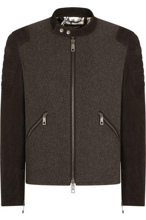 Dolce & Gabbana Bos taurus-blend jacket