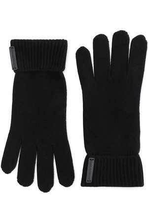 Dolce & Gabbana Logo-patch virgin wool gloves