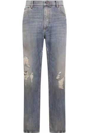 Dolce & Gabbana Ripped wide-leg jeans