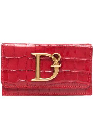 Dsquared2 Logo-plaque croc-effect wallet
