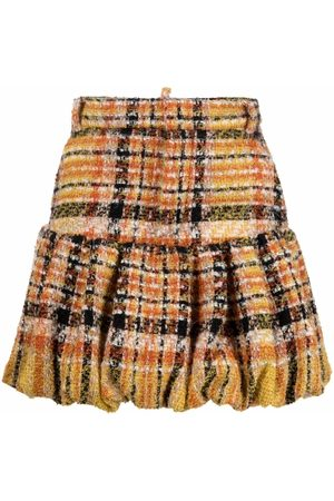 Dsquared2 Check-pattern knitted skirt - Neutrals