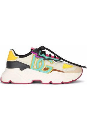 Dolce & Gabbana Logo-patch lace-up sneakers - Neutrals