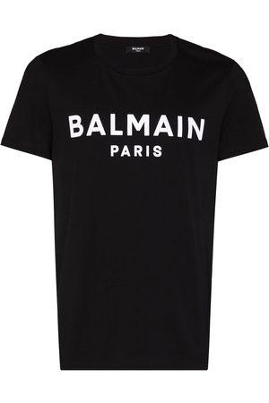 Balmain Flocked-logo cotton T-shirt