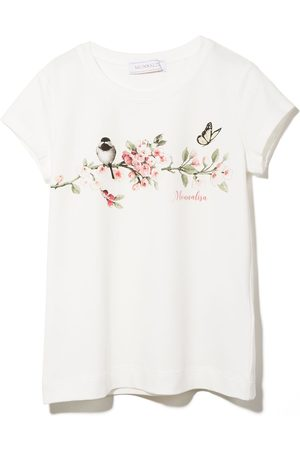 MONNALISA Floral print short-sleeve T-shirt