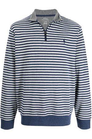Polo Ralph Lauren Striped jersey quarter-zip sweatshirt