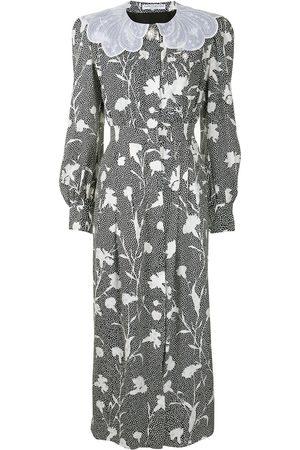 Alessandra Rich Floral-print silk midi dress