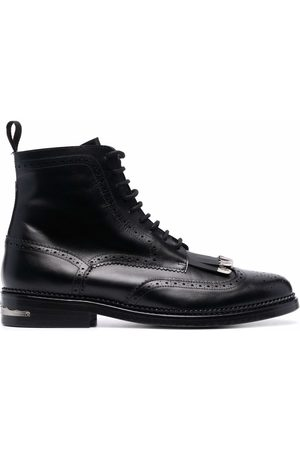 TOGA VIRILIS Men Lace-up Boots - Silver-detail lace up boots