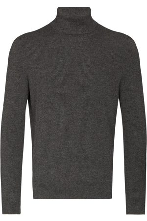 Brunello Cucinelli Men Turtlenecks - Cashmere roll-neck jumper - Grey