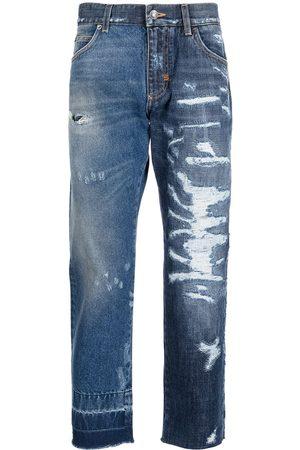 Dolce & Gabbana Distressed-effect straight-leg jeans