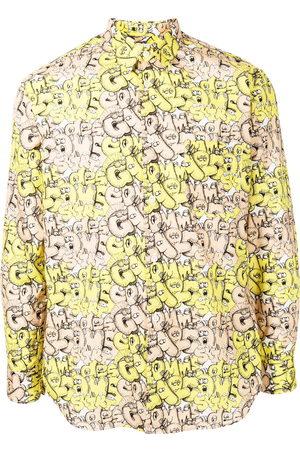 Comme Des Garçons Shirt Graphic-print cotton shirt