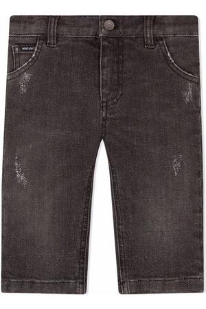 Dolce & Gabbana Straight-leg stretch jeans - Grey