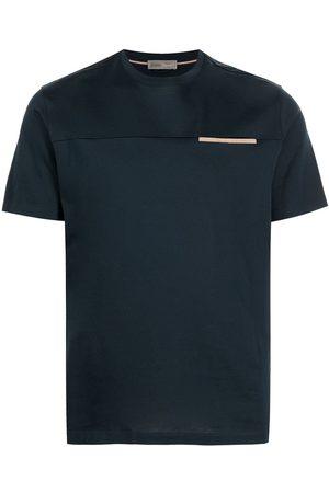 Herno Men Short Sleeve - Contrast-trim short-sleeve T-shirt