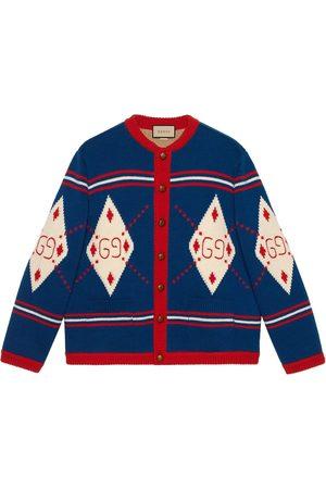 Gucci GG argyle-knit cardigan