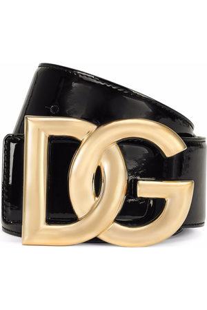 Dolce & Gabbana Women Belts - Patent DG-logo buckle belt