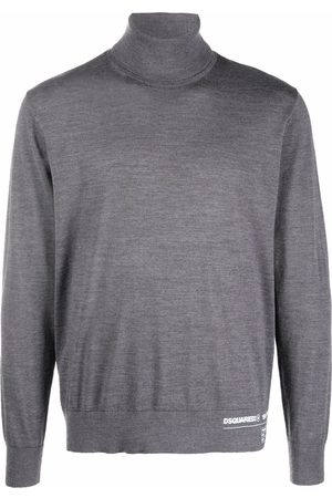 Dsquared2 Fine-knit roll-neck jumper - Grey