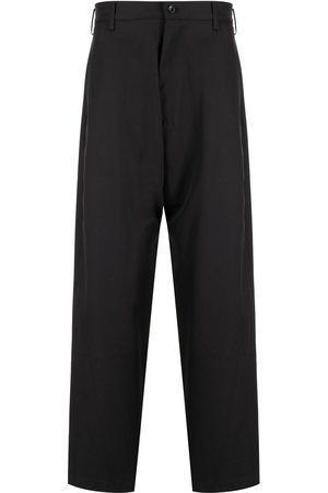 sulvam High-waisted wool wide leg trousers