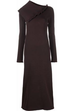 Jil Sander Women Asymmetrical Dresses - Asymmetric collar maxi dress