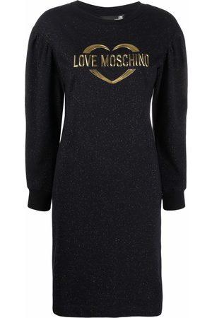 Love Moschino Logo-motif cotton-blend dress