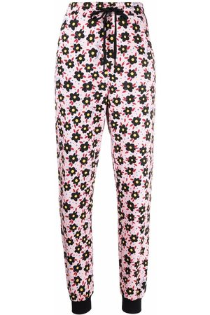Love Moschino Floral-print cotton track trousers