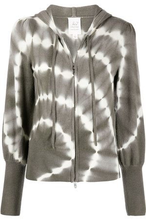 Cinq A Sept Tie-dye zipped hoodie