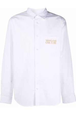 Versace Jeans Couture Embroidered-logo cotton shirt