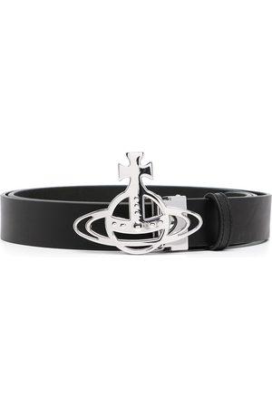 Vivienne Westwood Men Belts - Orb-plaque leather belt