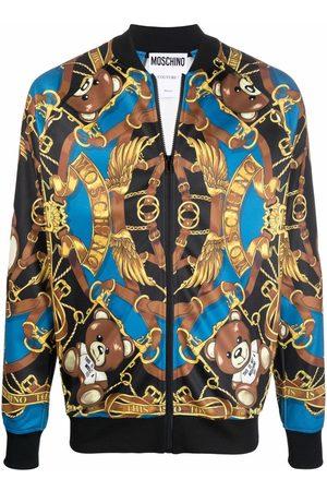Moschino Teddy print bomber jacket