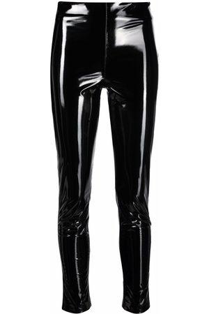 BLANCA Faux-leather leggings