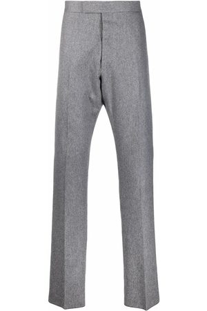 Thom Browne Pressed-crease tailored trousers - Grey