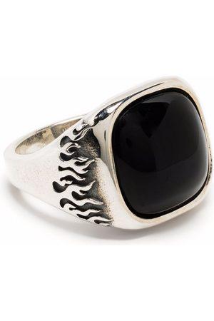 Vision Of Super Engraved flame signet ring