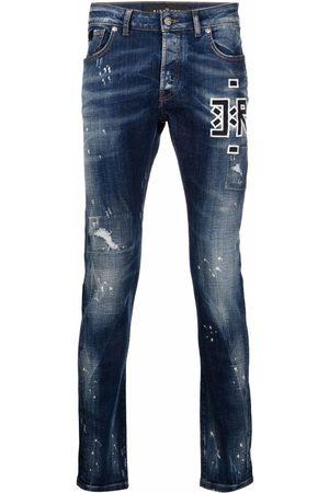 John Richmond Embroidered-logo jeans