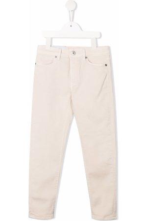 DONDUP KIDS Girls Straight - Mid-rise straight-leg jeans - Neutrals