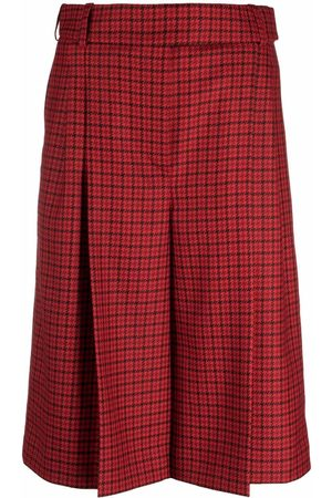 ALEXANDRE VAUTHIER Pleated check culottes