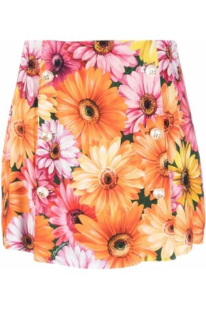 Dolce & Gabbana Floral-print zip-fastening skirt