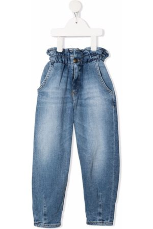 Dondup Girls Jeans - High-waisted paperbag jeans