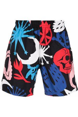 Alexander McQueen Colour-block swim shorts