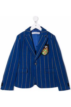 PHILOSOPHY DI LORENZO SERAFINI Crest patch striped blazer