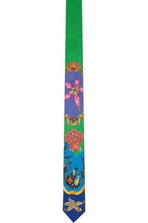 VERSACE Multicolor Silk Trésor de la Mer Tie