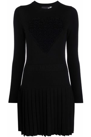 Love Moschino Long-sleeve knitted dress
