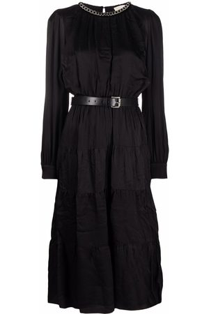 Michael Kors Chain-trimmed tiered dress